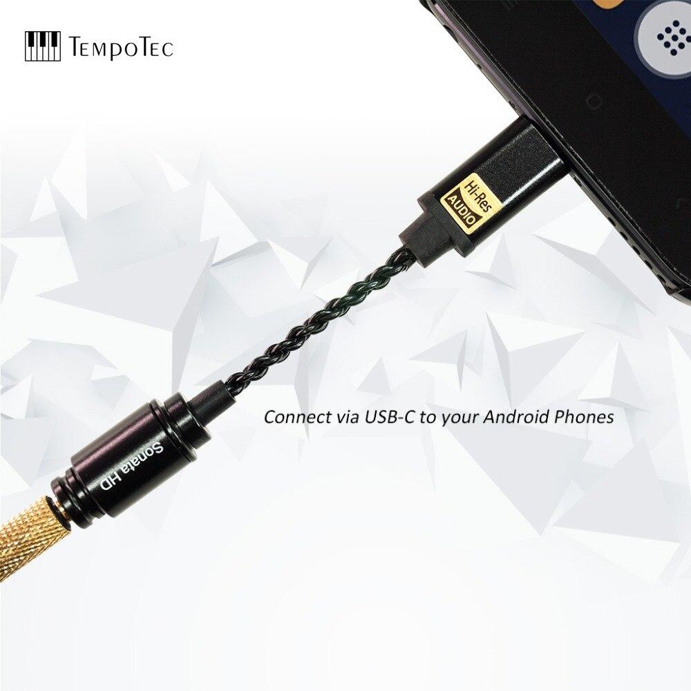 Tempotec sonata hd tipo c para 3.5mm adaptador amplificador de auscultadores dac para android telefone pc mac