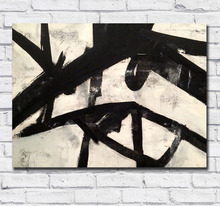 Large Size hand painted Franz Kline High Street Oil Painting Art Home Decor Living Room Modern Canvas Paintings No Frames