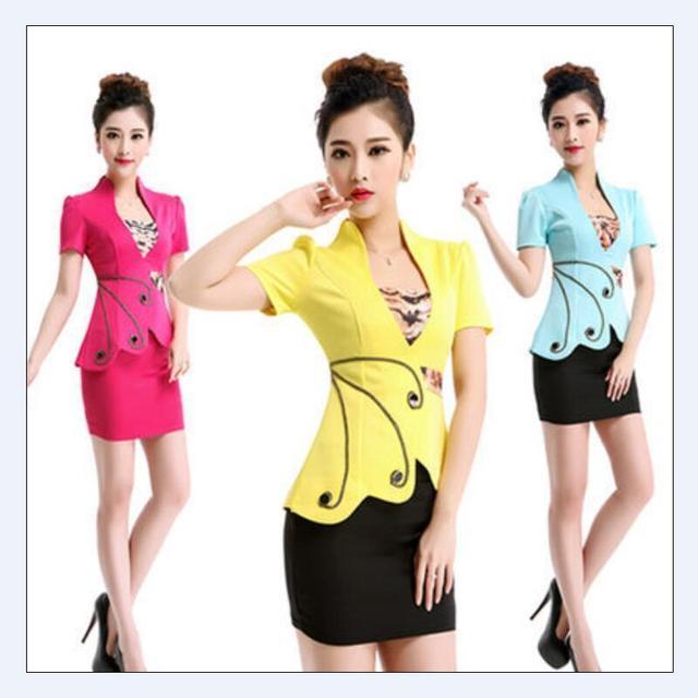 Free shipping 2016 Summer style  OL Slim vest skirt suit Sexy Carreer Dresses skirt office uniform style women work wear