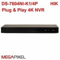 CCTV Video Recorder PoE NVR DVR hikvision ip camera 4K 8Mp HD network Camcorder home security surveillance system DS 7604NI K14P