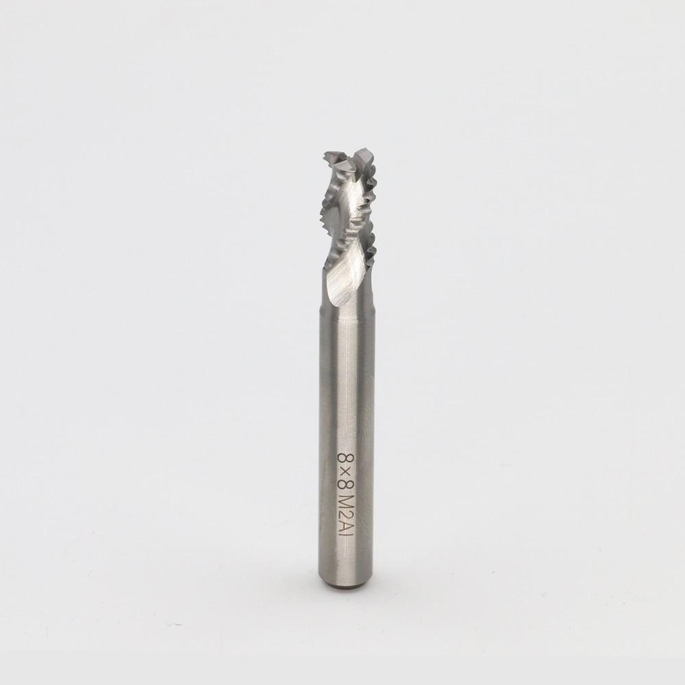New 3 Flutes 8*8*15*69*7.7*25mm M2AI Dia End Mill Router Bit Milling Cutter Machine CNC Drill Tool Use For Cutting Aluminum 10pcs 1 8 0 8 3 175mm pcb twist drill bit set engraving cutter rotary cnc end mill for metal drill bit yx