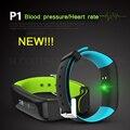 P1 COMLYO NOVA Chegada Pulseira Inteligente pulseira Bluetooth Heart rate Monitor de pressão Arterial Inteligente À Prova D' Água de Natação banda Inteligente
