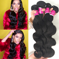 Wholesale Mario Hair Brazilian Virgin Hair Body Wave 3 Bundles Virgin Brazillian Hair HotBeauty Body Wave Human Hair Weave
