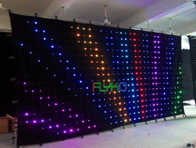 3x6m portable led stage curtain screen with soft fabric