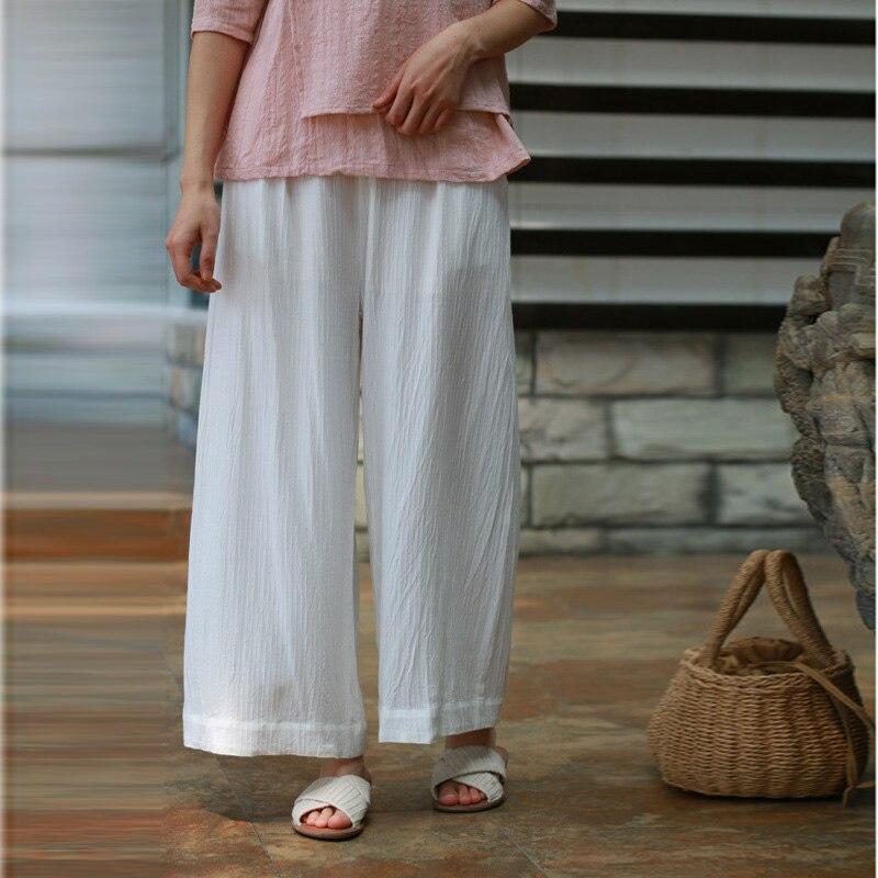 Hosen & Caprihosen Johnature 2019 Herbst Sommer Neue Frauen Hosen Baumwolle Leinen Große Lose Größe Original Einfarbig Weichen Chinesischen Stil Hosen