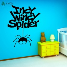 YOYOYU Vinyl Wall Decal Incy Wincy Apider Funny Hanging Spiders Interesting Kids Room Decoration Stickers FD160