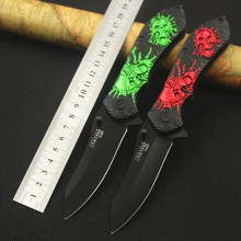 Creative Skull 54HRC Folding Blade Knife CS GO Outdoor Survival Camping 3Cr13 Knife Stainless Steel Tactical Knives Tools 30