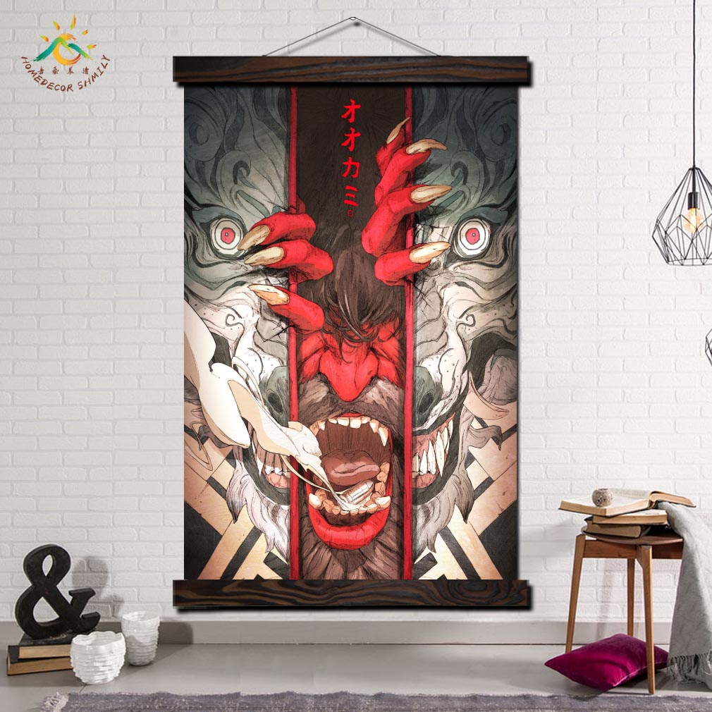 The Wolf Digital Image Wall Art Canvas Prints Painting Frame Scroll Poster Decorative Picture Print