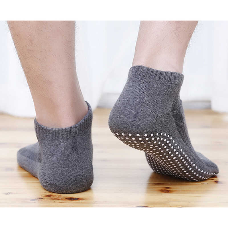 1 Pair  Men's Cotton Sport Non-slip Yoga Socks  Breathable Anti Skid Floor Socks