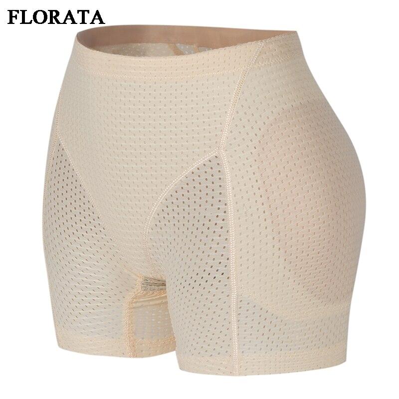 FLORATA Shaper Bottom Panties Women Emptied Breathable Underwear Hip Enhancer Butt Pad Hip Pants Brief Panties Enhancer