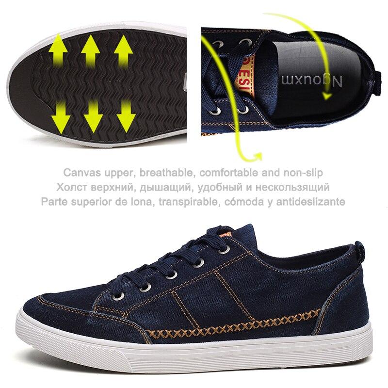 Casual bleu Hommes Toile Sneakers Bleu Ngouxm dark Gray Noir Tissu Haute Marine Denim Nouvelle Mode Qualité Chaussures Lacent Automne Porter De Homme 2018 Oqwxxd15
