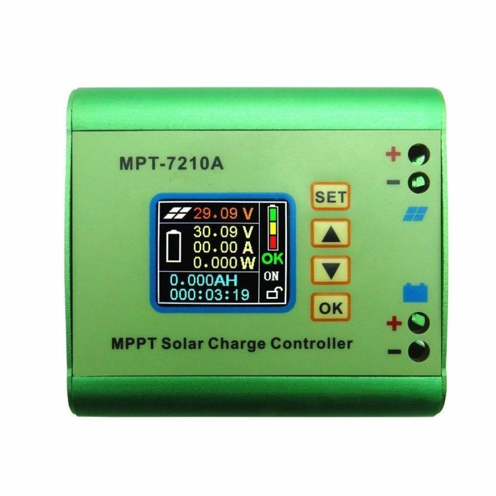 MPT-7210A LCD affichage MPPT panneau solaire contrôleur de Charge de batterie 10A 48 V Boost M