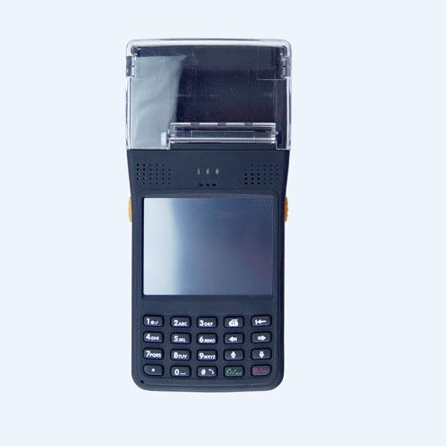 Industria windows Mobile PDA portátil con una función de escáner de códigos de barras 1d, lector RFID HF/LF rfid lector, impresora térmica