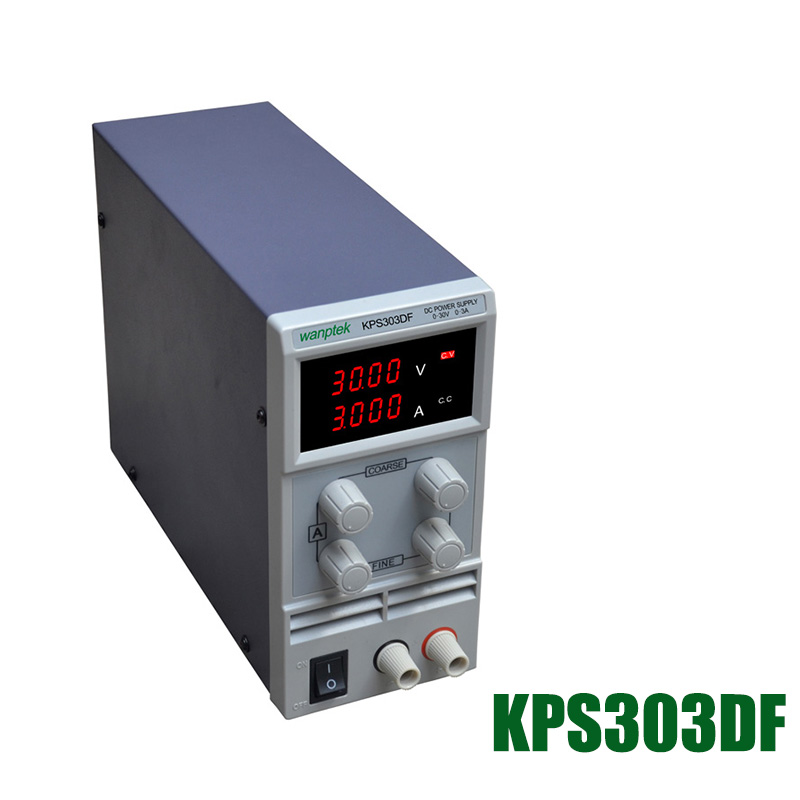 KPS303DF 30V3A 110V-230V 0.1V/0.001A EU LED Digital Adjustable Switch DC Power Supply mA display