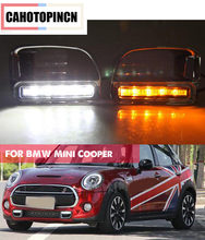 For BMW Mini Cooper S 2009-2013 Countryman LED Daytime Running Light ABS 12V DRL Fog Lamp with turn signal light style Relay(China)