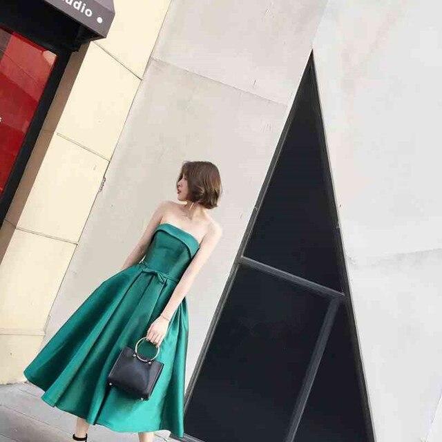 В наличии Короткие вечерние платья Пром платье bruidsmeisjes