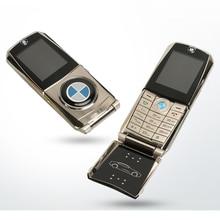 MAFAM סמארטפון flip מלא מתכת רכב דגם מפתח עיצוב צורת GPRS אינטרנט ספר אלקטרוני יוקרה