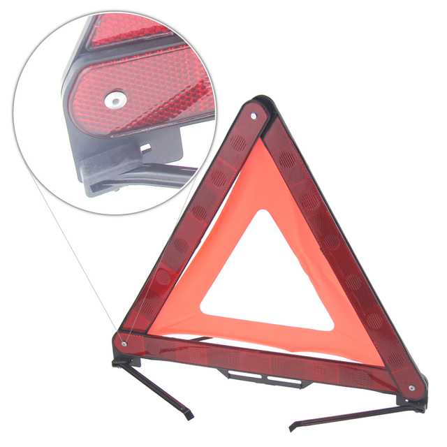 Car reflective triangular parking warning signs vehicle warning triangles safety highway emergency tripod breakdown assistance