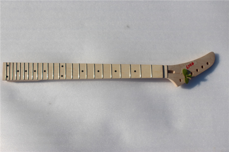 X-002 # 25.5 1 pcs Electric guitar neck fine quality MAPLE fingerboard 24 fret maple made floyd rose nut s 0028 4 25 5 electric guitar neck fine quality maple fingerboard 21 fret