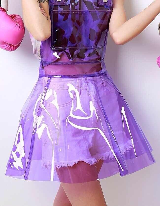 2020 Sleeveless See Through Women A Shape Fetish PVC Dress Lady Sexy Costumes DJ Club Party Show Dress Music Festival Dresses