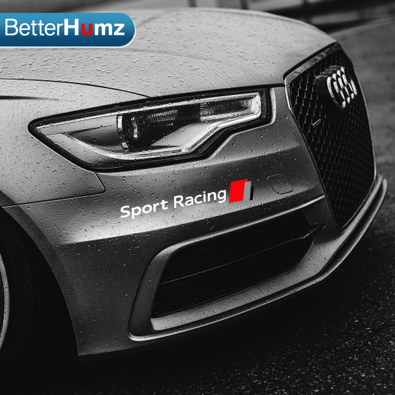 Betterhumz new style car styling front bumper decals car stickers for audi a3 a4 a5 a6