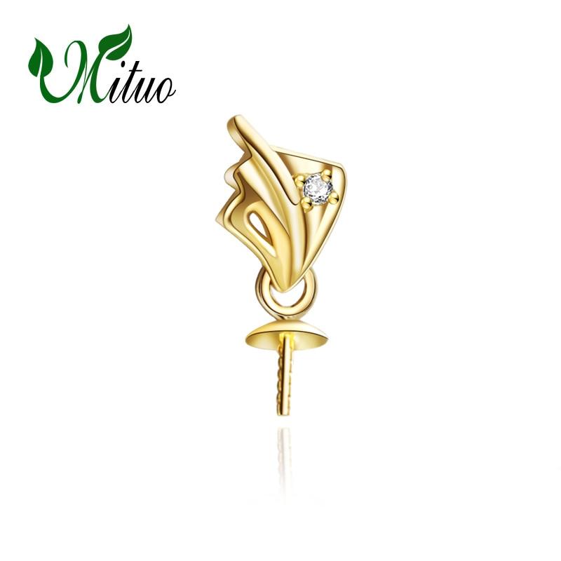MITUO 18 K żółte złoto modny wisiorek perła akcesoria DIY naszyjnik dla miłości kobiet, biżuteria perłowa na ślub, naszyjnik łańcuch w Naszyjniki od Biżuteria i akcesoria na  Grupa 1