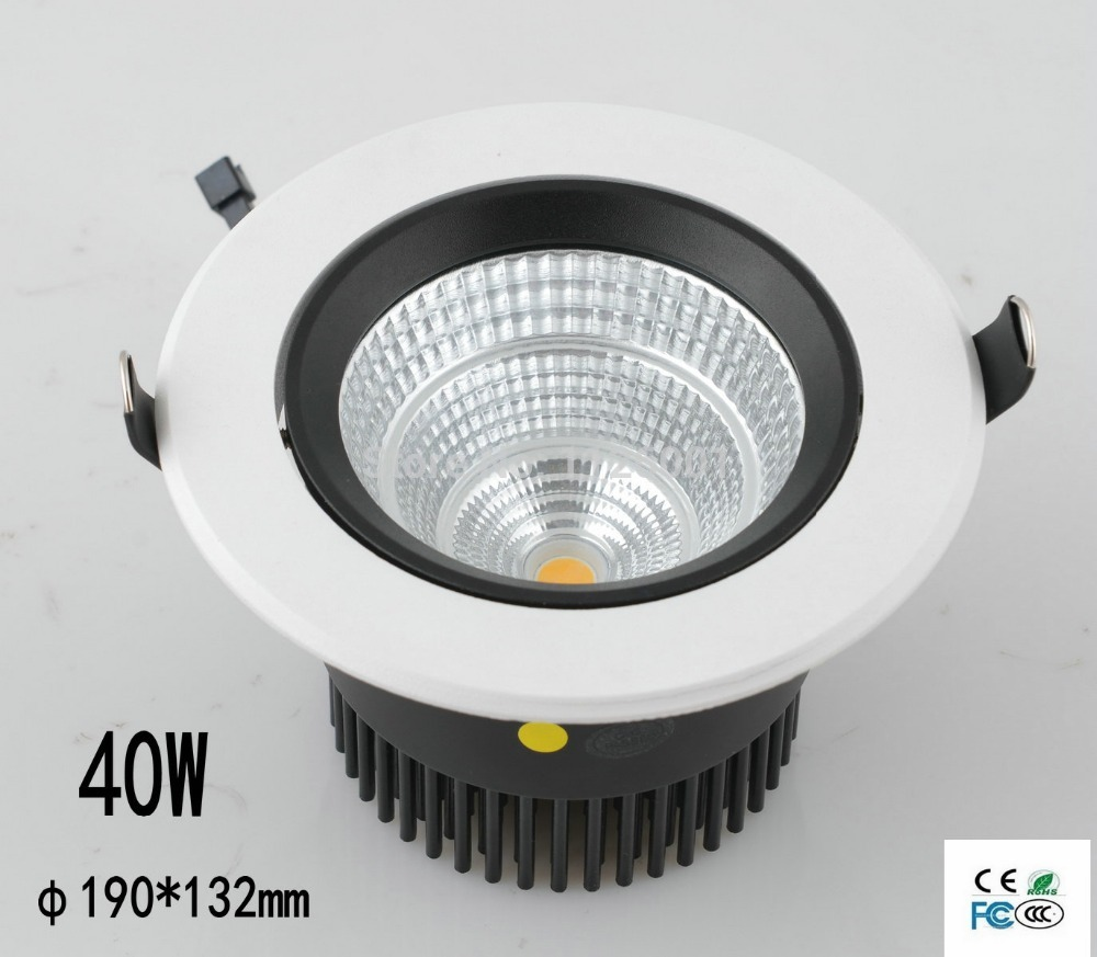 Ceiling Lamp Led Spot Free Shipping 4pcs/lot Cob Round Recessed Led Downlight With 100-240v Ac Input Voltage And Ce/rohs Mark no dimmable recessed led downlight cob 40w 60w led spot light led ceiling lamp ac110v 220v free shipping