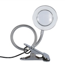 Portable USB Lamp Permanent Makeup Equipment Eyebrow Tattoo Nail Art Reading 2.5 Times Magnifier Light With Clamp Beauty Salon
