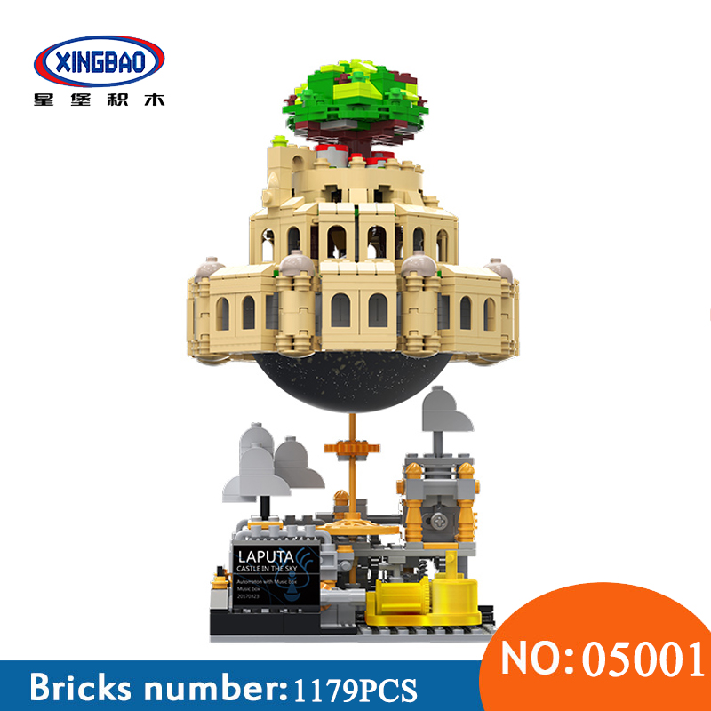 все цены на XingBao 05001 1179Pcs Genuine Creative MOC Series The City in The Sky Set Educational Building Blocks Bricks Toys For Children