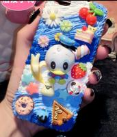 Sailor Moon 3D Kawaii Decoden Whipped Cream Black Phone Case For Samsung S8 Plus