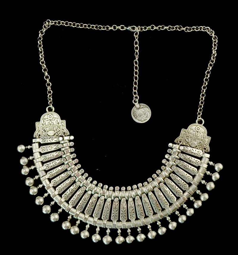 Bohemian Silver Coin Necklace Set Indian Bridal Jewelry Set Turkish