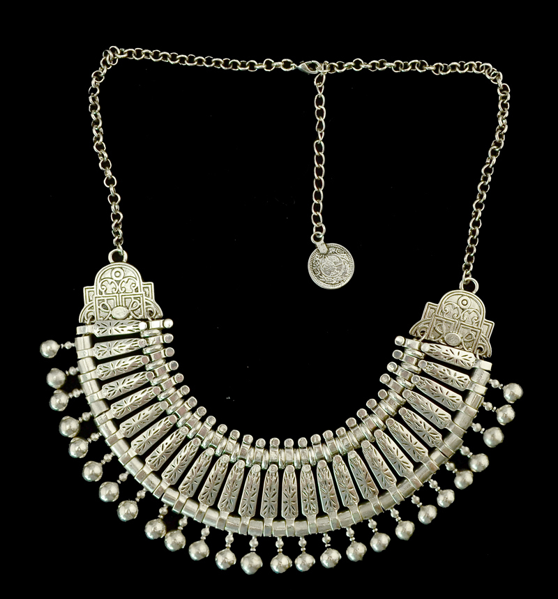 Bohemian Silver Coin Necklace Set Indian Bridal Jewelry Set