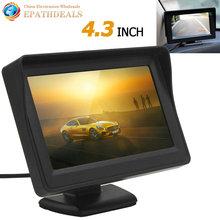 4.3 Pulgadas a Color TFT LCD de Panel Digital de ALTA DEFINICIÓN Retrovisor Del Coche Automático Monitor de Estacionamiento de Copia de seguridad de Visión Trasera Del Vehículo Soporte para Monitor 2 de Entrada de Vídeo