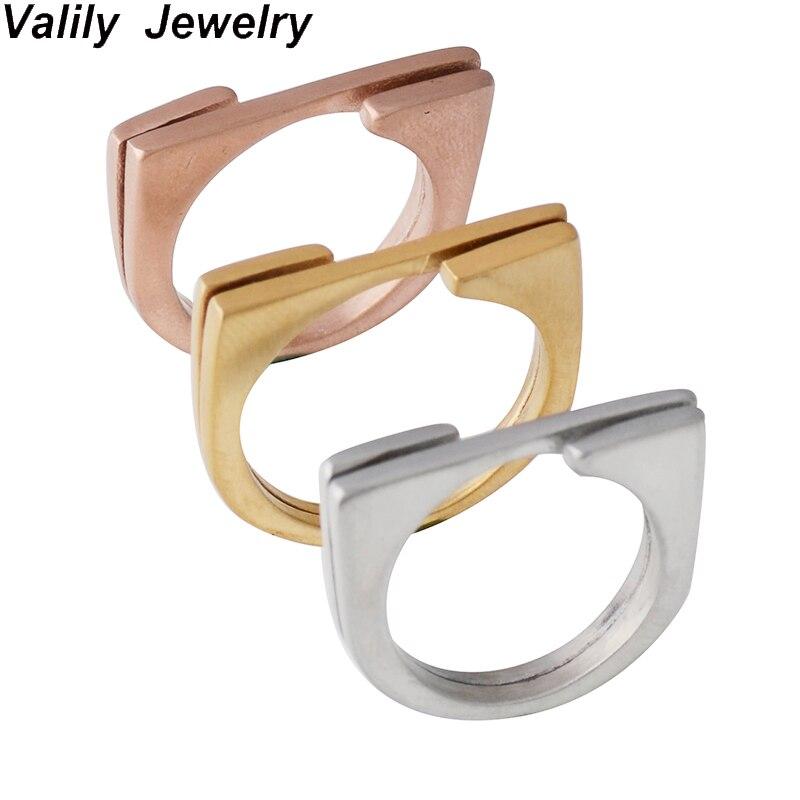 Valily золотые украшения Цвет 6 мм простой Кольца satinless стали круглый обещал Кольца Лето Дизайн моды кольцо для Для женщин подарок