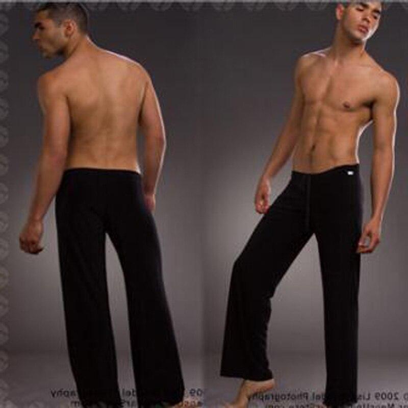 Men's ice Silk Pajamas Pyjamas Pants Lounge Pants Sleep Bottoms Sexy Trousers Soft Comfortable Lacing Loose Home Pants Men gay