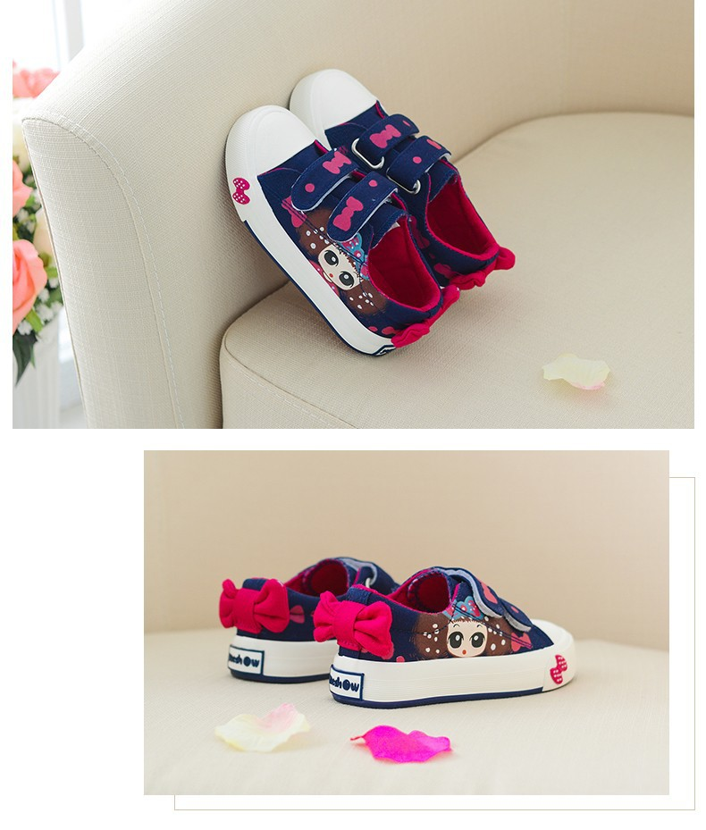 Canvas Children Shoes 17 New Baby Girls Princess Shoes Brand Kids Sneakers for Girls Denim Child Flat Toddler Shoes 11