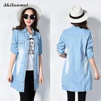 Womens New Fashion Blouses Light Blue Long Sleeve Female Cotton Shirt Women Shirts Tops Causal Outwear