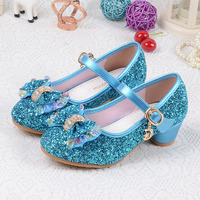 Children S Sequins Shoes Enfants 2017 Baby Girls Wedding Princess Kids High Heels Dress Party Shoes