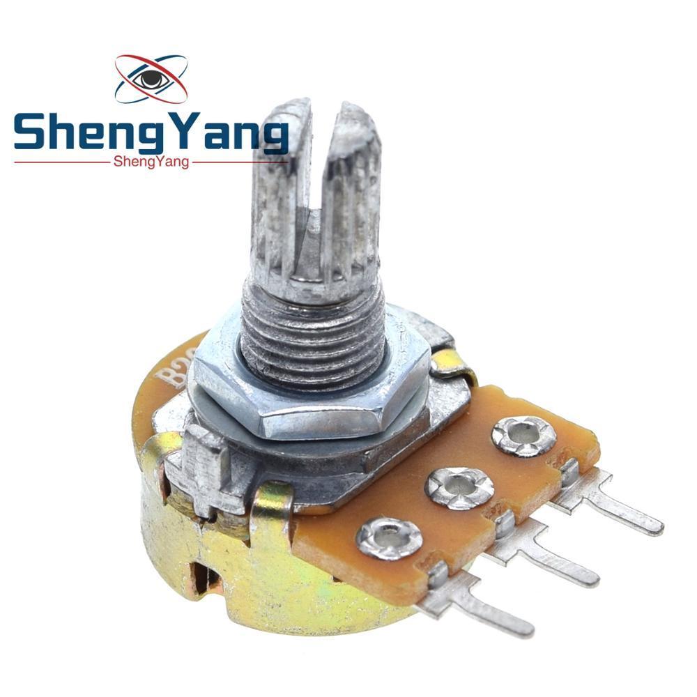 10 шт. ShengYang стерео/pa/герметичный потенциометр WH148 B1k B2k B5k B10k B20k B50k B100k B250k B500k B1M 15 мм 3 контакта