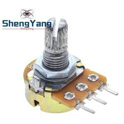 Potenciómetro ShengYang estéreo/pa/sellado WH148 B1k B2k B5k B10k B20k B50k B100k B250k B500k B1M 15mm 3 pines, 10 uds.