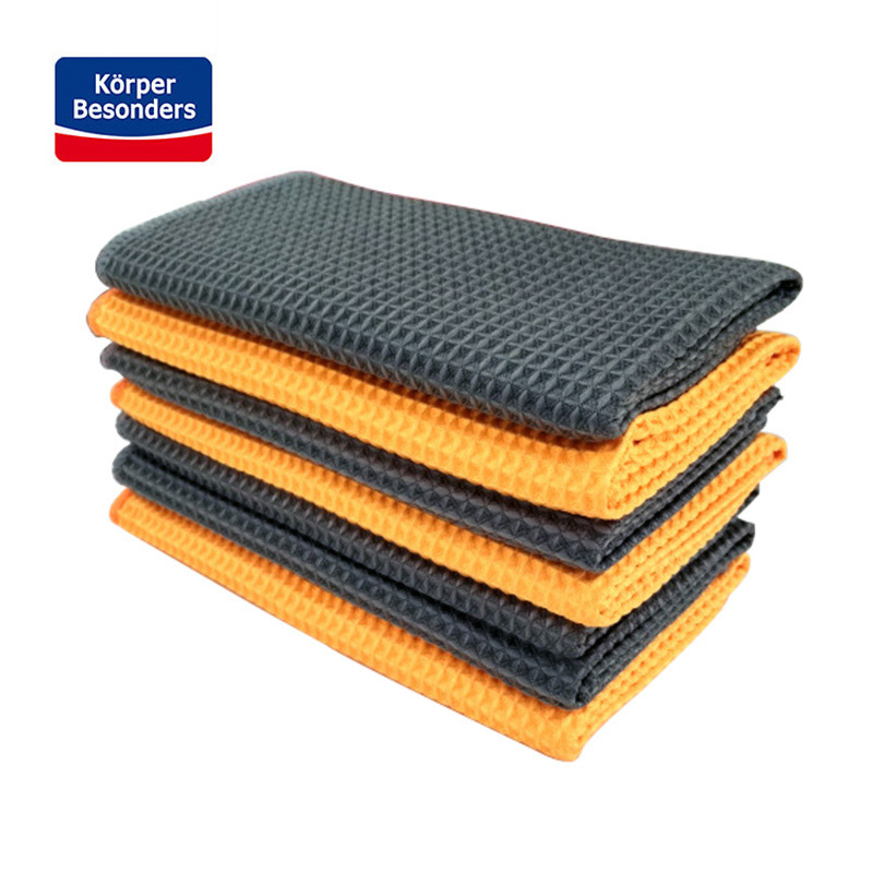 2 pieces Car Washing Towels strong Microfiber Window Clean Wipes Auto Detailing Waffle Weave for Kitchen Bathing towels 40*40cm