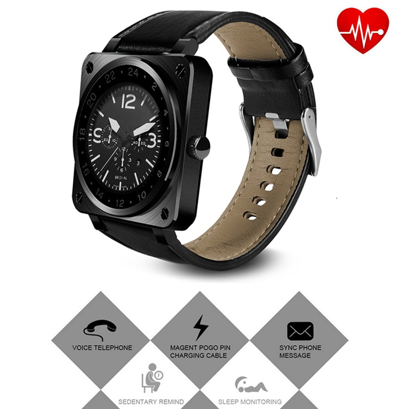 Smart Watch US18 Heart Rate Monitor Smart Wristband SmartWatch Heart Rate Sleep Monitor Pedometer for Apple