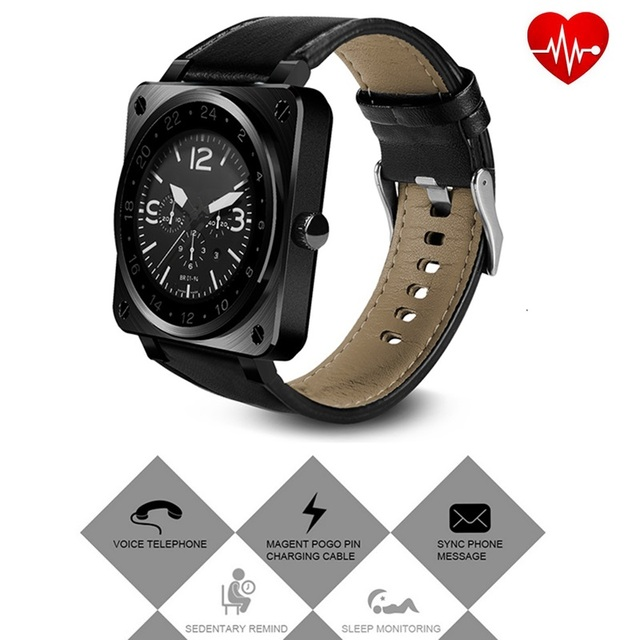 Smart Watch US18 Heart Rate Monitor Smart Wristband SmartWatch Heart Rate Sleep Monitor Pedometer for Apple iOS Android