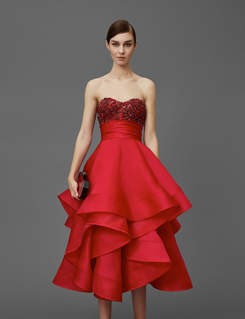 Aliexpress.com : Buy Elegant Tea Length Cocktail Dresses 2017 ...
