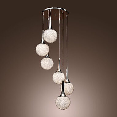 Online Shop Modern Glass Pendant lights with ball lamp shades ...
