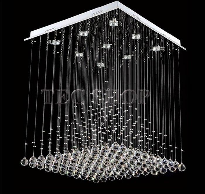 Best Price Length 80cmxW80xH100 Modern K9 Square Crystal ...