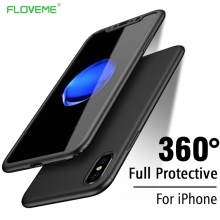 Get more info on the FLOVEME 360 Degrees Protective Case For iPhone 6 6S 7 Plus Tempered Glass PC Front Back Full Body All Coverage Shells For iPhone