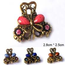 Retro Baroque Small Hairdress Hair Claw Clip Barrette Crab Clamp Hollow Flower Butterfly Hair Accessories For Women Girls metal rhinestones hair clip vintage bronze plating butterfly hair claw retro flower hairgrip women hair jewelry