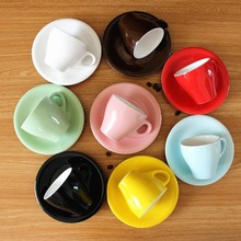 170ml colorful thick body ceramic tulip cappuccino cup and saucer ,ceramic coffee cup saucer