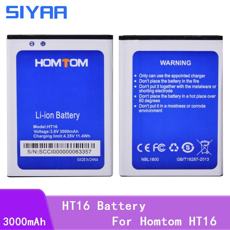 SIYAA Phone Original Battery ht16 For Homtom HT16 Battery Mobile Phone 3.8V high capacity 3000mAh Lithium Replacement Batteries(China)